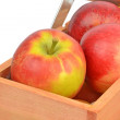 Apples in a crate — Stock Photo