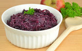 Cooked red cabbage — Stock Photo