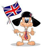 British Cartoon Dog — Stock Vector