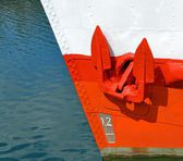 A red anchor — Stock Photo