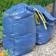 Plastic bin bags full of garden rubbish — Stock Photo
