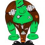 A cartoon Frankenstein monster — Stock Vector