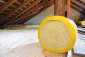 Loft insulation — Stock Photo