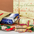 Sack with Christmas gifts — Stok Fotoğraf #34224523