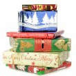 Stockfoto: Pile of Christmas gifts
