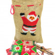Stockfoto: Sack of Christmas gifts
