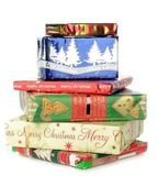 A pile of Christmas gifts — Foto Stock