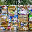 Crushed Cardboard for Recycling — Stock Photo