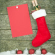 A Christmas stocking — Stock Photo