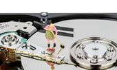 Cleaning Computer Hard Drive — Stock Photo