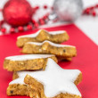 Stock Photo: Cinnamon star shaped biscuits