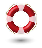 Red Life Buoy, — Stock Photo