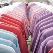 T-shirts on the hanger — 图库照片