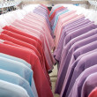 T-shirts on the hanger — Stockfoto