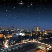 πόλη τη νύχτα — Φωτογραφία Αρχείου