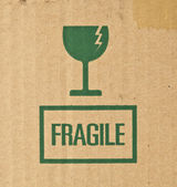 Green fragile sign — Stock Photo