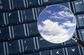 Cloud účasti — Stock fotografie