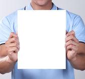 Prázdný papír — Stock fotografie