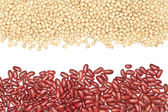 close-up, Soybeans, red beans, background detail — Stock Photo