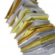 Papers stack — Stock Photo