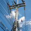 Stock Photo: Electric poles