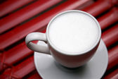 Close up hot milk — Stock Photo