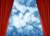 красный curtai — Стоковое фото