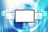 Blank lcd screen — Stock Photo