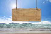 Sinal de madeira — Foto Stock