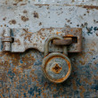 Stock Photo: Antique key lock