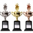 3 trophy — Stock Photo
