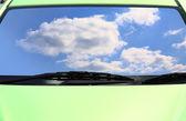 Green eco cars — Stock Photo