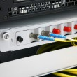 Network switch and patch cables — Stock Photo