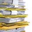 Stock Photo: Stack of papers