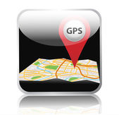 Gps map — Stock Photo