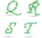 Leaves letter — Stock Vector