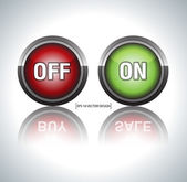 On off buttons — Stock Vector