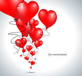 Red heart balloons — Stock Vector
