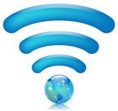 Wireless world — Stock Vector