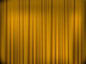 黄色のカーテン — ストックベクタ