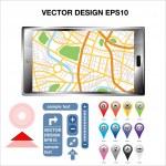 GPS Map Location — Stock Vector