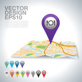 GPS pointer — Vettoriale Stock