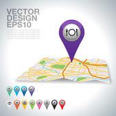 Gps puntero — Vector de stock