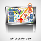 Navigation Application. — Stock Vector