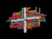 Denk positiv — Stockvektor