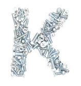 K alphabet — Stock Photo