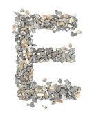 E alphabet — Stock Photo