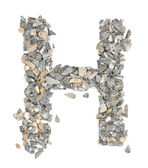 H alphabet — Stock Photo