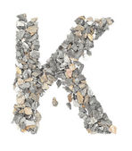 K alphabet — Stock Photo