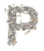 P alphabet — Stock Photo